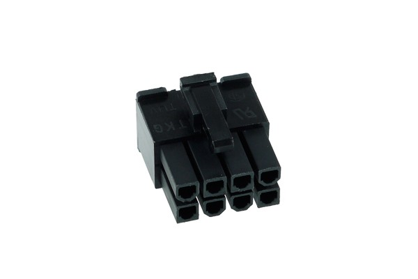 Phobya ATX Power Connector 8Pin male incl. 8 Pins - black