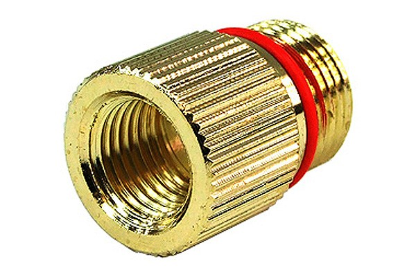 """Eheim 1046/48 In- and 1250 outlet adaptor to G1/4"""" – knurled – gold plated"""