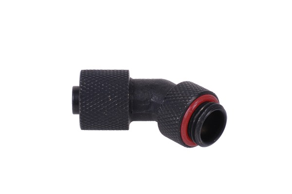 11/8mm (8x1,5mm) compression fitting 45° G1/4 revolvable - knurled - matte black