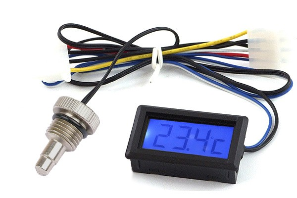 temperature sensor G1/4 with Display (blue)