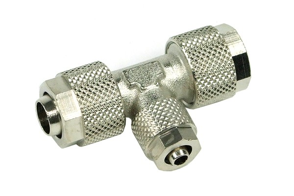 6/4mm (4x1mm) T-connector reduced from 10/8mm (Watercool MICROSYSTEM)